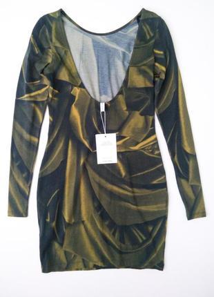 Платье мини с открытой спинкой сукня плаття органический хлопок  & other stories