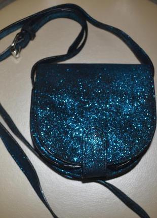Кожаная брендовая сумка-кроссбоди jack wills (англия) из натуральной кожи.