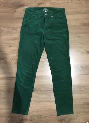 Изумрудные вельветовые брюки стрейч!
