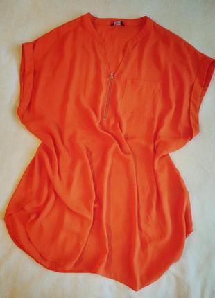 Яркая стильная блуза оверсайз широкая oversize