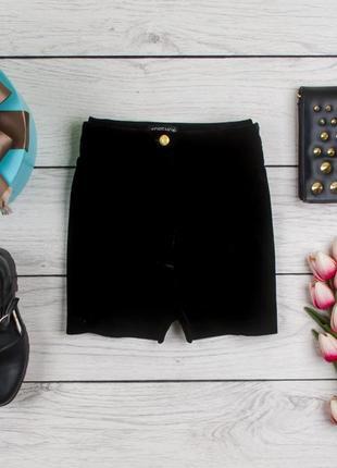 Черные велюровые  шорты от topshop рр 10 наш 44