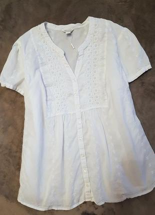Monsoon блуза белая блузка 4xl