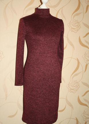 Теплое платье ангорка стойка