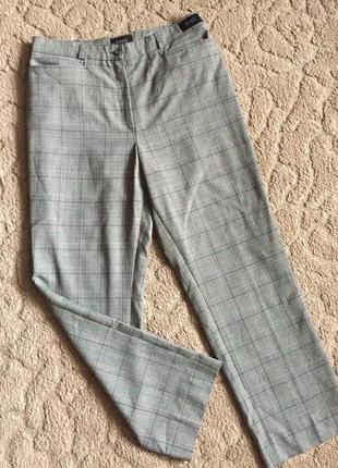 Супер брюки жен в клетку весна-осень раз l(40)