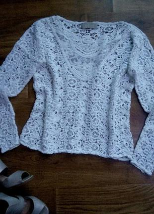 Kружевная блуза от zara в стиле «макраме»