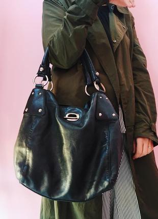 Кожанная повседневная модная сумка