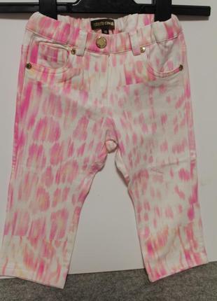 Оригинал roberto cavalli джинсы 18-24мес. /брючки для маленькой модницы до 2х лет