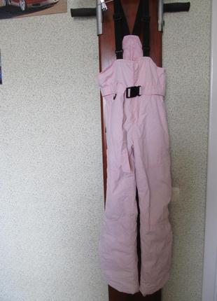 Зимние лыжные штаны на подтяжках полукомбинезон 140