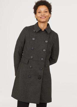 Двубортное пальто, 34р (xs) - 36р (s), полиэстер 86%; вискоза 12%; эластан 2%