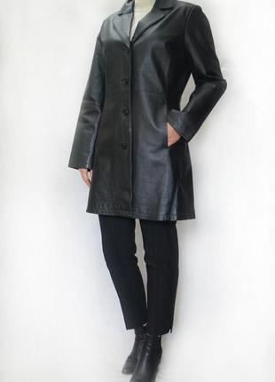 Кожаное пальто 5th avenue. натуральня кожа