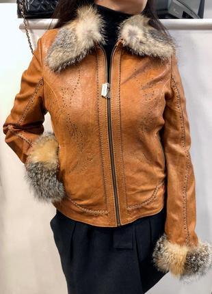 Куртка кожаная levinson