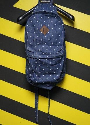 Джинсовый рюкзак в мелкий горох