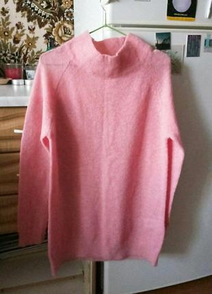 Шерстяной свитер оверсайз из шерсти ангорской козы