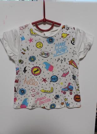 Фирменная футболка marc jacobs на крошку 12-24мес (есть дефект)