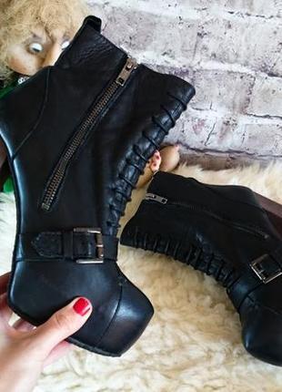 Ботинки из натуральной кожи topshop