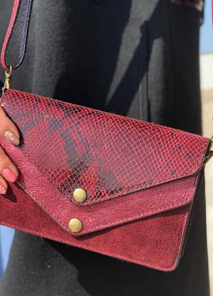Женская сумочка-клатч из натуральной кожи. laura di maggio италия.