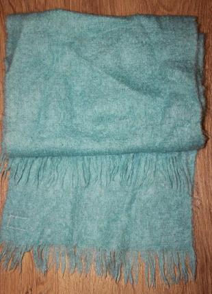 Теплый шарф палантин мохер шерсть шотландия 170*40см.