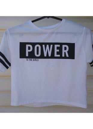 Укороченная футболка miss e-vie