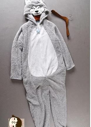 Кигуруми хаски, пижама, ночнушка