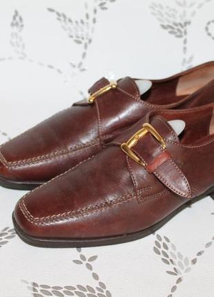 Комфортные итальянские кожаные туфли 37 размер 24 см стелька