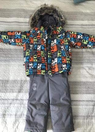 Зимний комплект для мальчика (куртка+полукомбинезон) lenne bus, 92+6