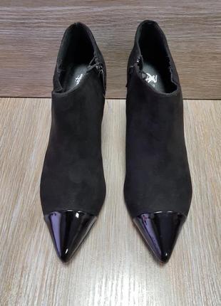 Короткие ботинки на среднем каблуке hm 39,черные ботильйоны на каблуке