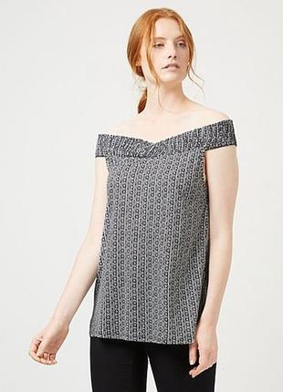 Блуза с открытыми плечами с геометрическим принтом george, р50 - 52