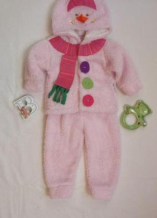 Теплый костюм для девочки/зимний комплект/костюмчик на девочку махровый