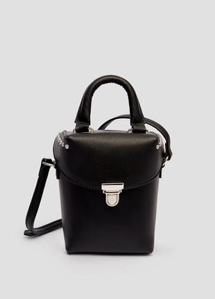 Модная мини сумочка stradivarius с двумя ручками