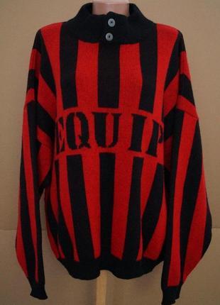 Стильный свитер под горло,теплющий.50%шерсть, италия,пог 65++