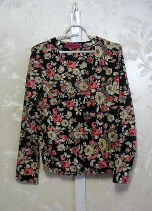 Блуза в цветы на запах boohoo