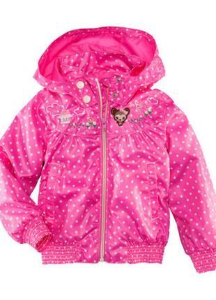 Яркая куртка ветровка на девочку h&m р. 128 (7-8 лет) новая в горошок