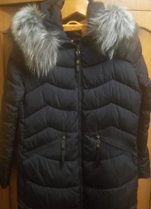 Зимнее теплое пальто пуховик
