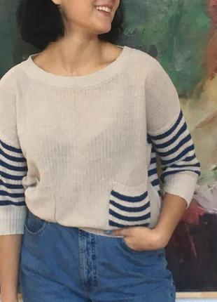 Вязаный кроп свитер