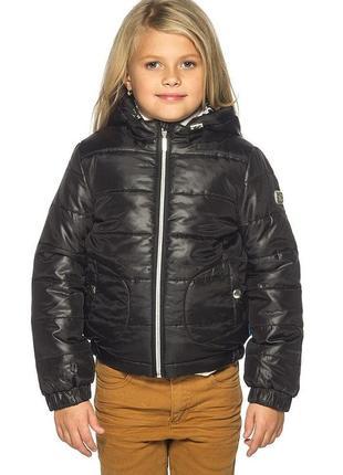 Зимняя теплая куртка на девочку р.110-116 (4-6 лет) exit водо и ветрозащита