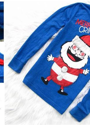 Стильная кофта next свитшот  новогодний свитер санта новый год