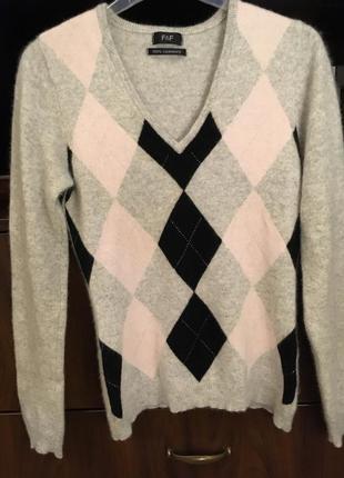Джемпер кашемир 100%, кофта, свитер, пуловер