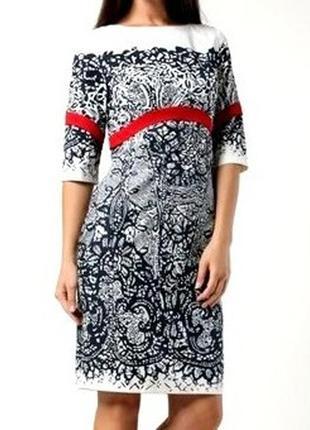 Элегантное хлопковое новое платье миди с кружевным принтом i.klairie
