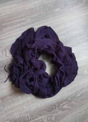 Красивый и мягкий шарф шарфик жабо