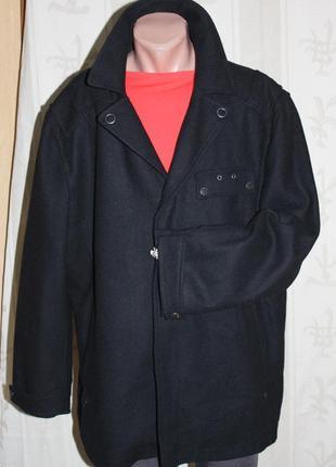 Модное полу пальто куртка тренч шерсть деми angelo litrico 3xl 56/58 р