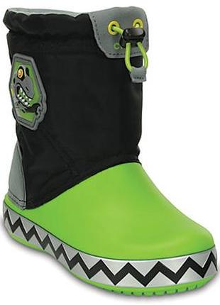 Оригинал crocs snow boot зимние сапоги мигают 6с крокс деми зима