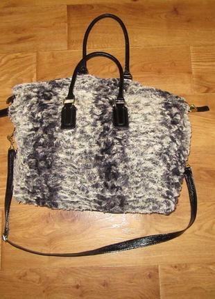 Меховая сумка miss e-vie