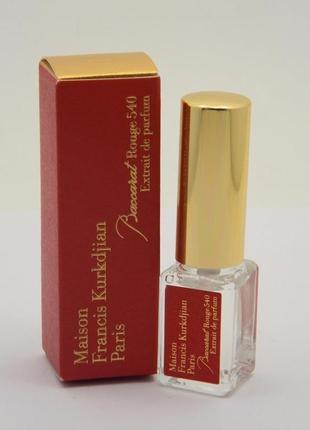 Baccarat rouge 540 extrait de parfum_maison francis kurkdjian_миниатюра пробник 5 мlл