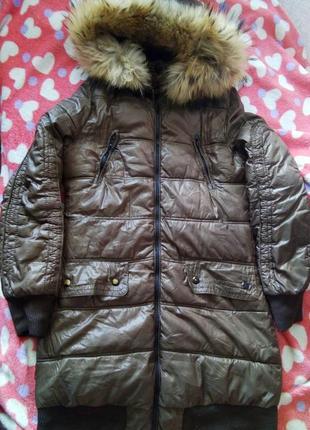 Куртка пуховик bershka зимняя зима