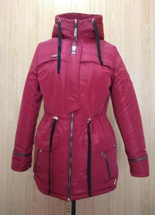 Куртка парка на меху  разные цвета красный (42-50)