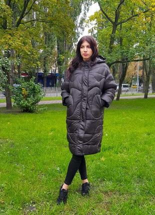 Женская куртка длинная на молнии