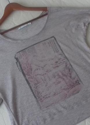 Трикотажная футболка с принтом свободного кроя оверсайз nile