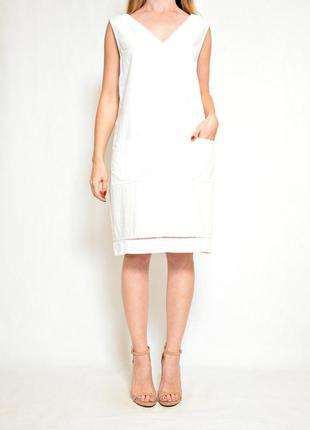 Белое платье льон