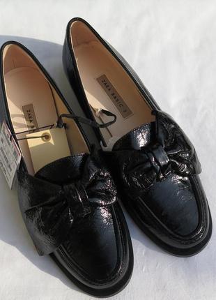 Туфли лоферы оксфорды zara натуральная кожа 36 размер zara