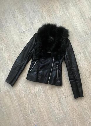Куртка косуха дубленка с мехом/ mohito